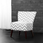 Dorel Living Kinsley Chevron Accent Chair Gray And White Walmart Com Walmart Com
