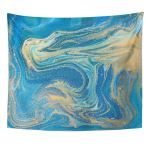 Zealgned Water Blue Green And Gold Liquid Marbling Ink Marble Wall Art Hanging Tapestry Home Decor For Living Room Bedroom Dorm 60x80 Inch Walmart Com Walmart Com