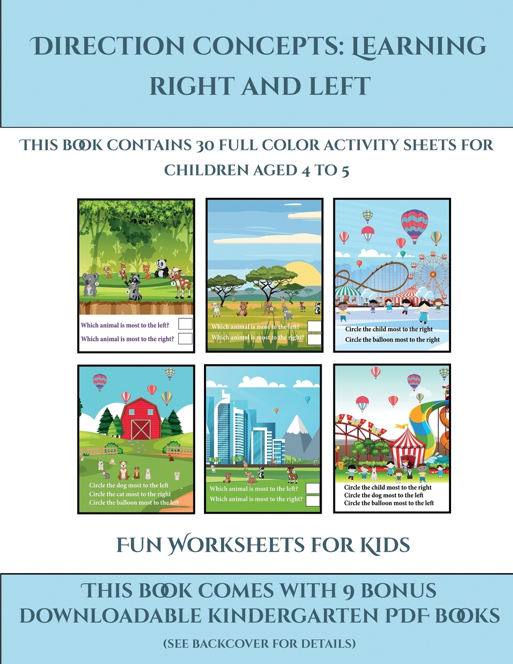 Fun Worksheets For Kids Direction Concepts Learning Right