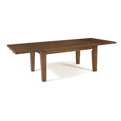 broyhill attic extendable solid wood dining table