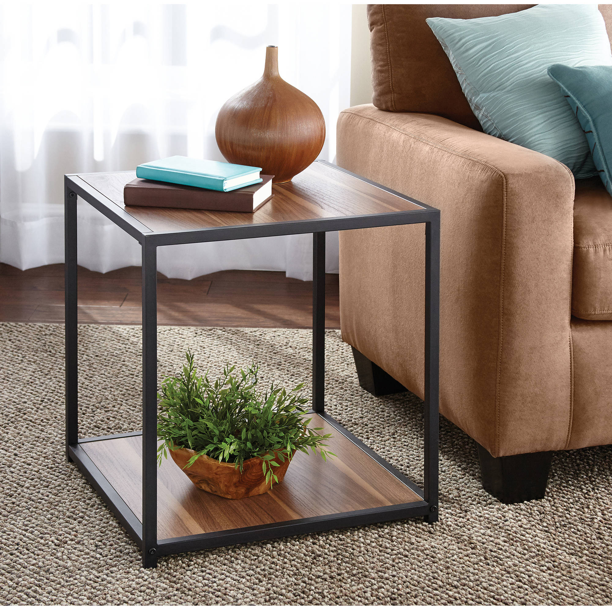 Mainstays Metro Side Table Multiple Finishes Walmart Com