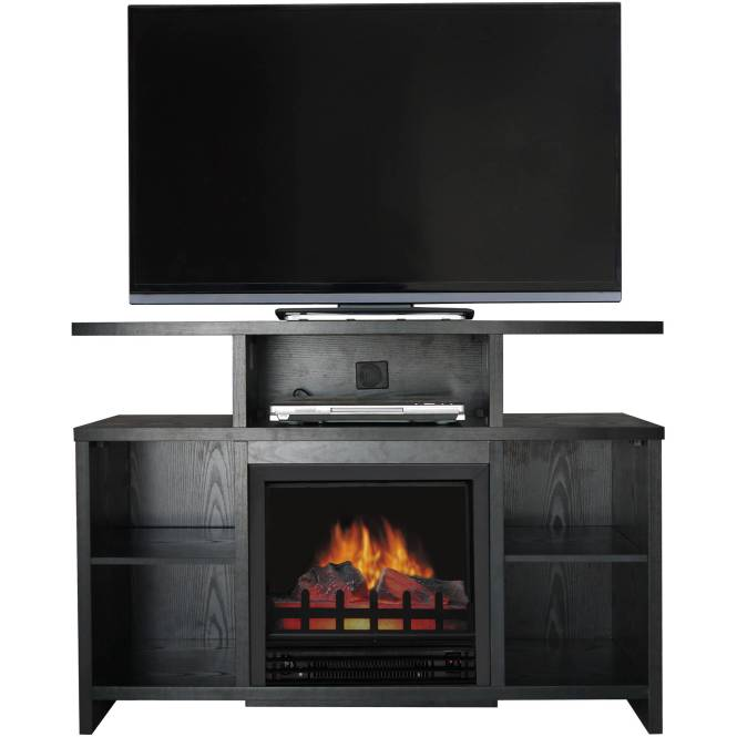 Décor Flame Biscayne 53 Media Fireplace For Tvs Up To 60 Black