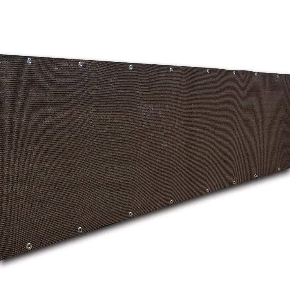 alion home hdpe privacy screen windscreen mesh shade panel cover for backyard deck patio fence pool 180 gsm dark brown 4 x 26 walmart com