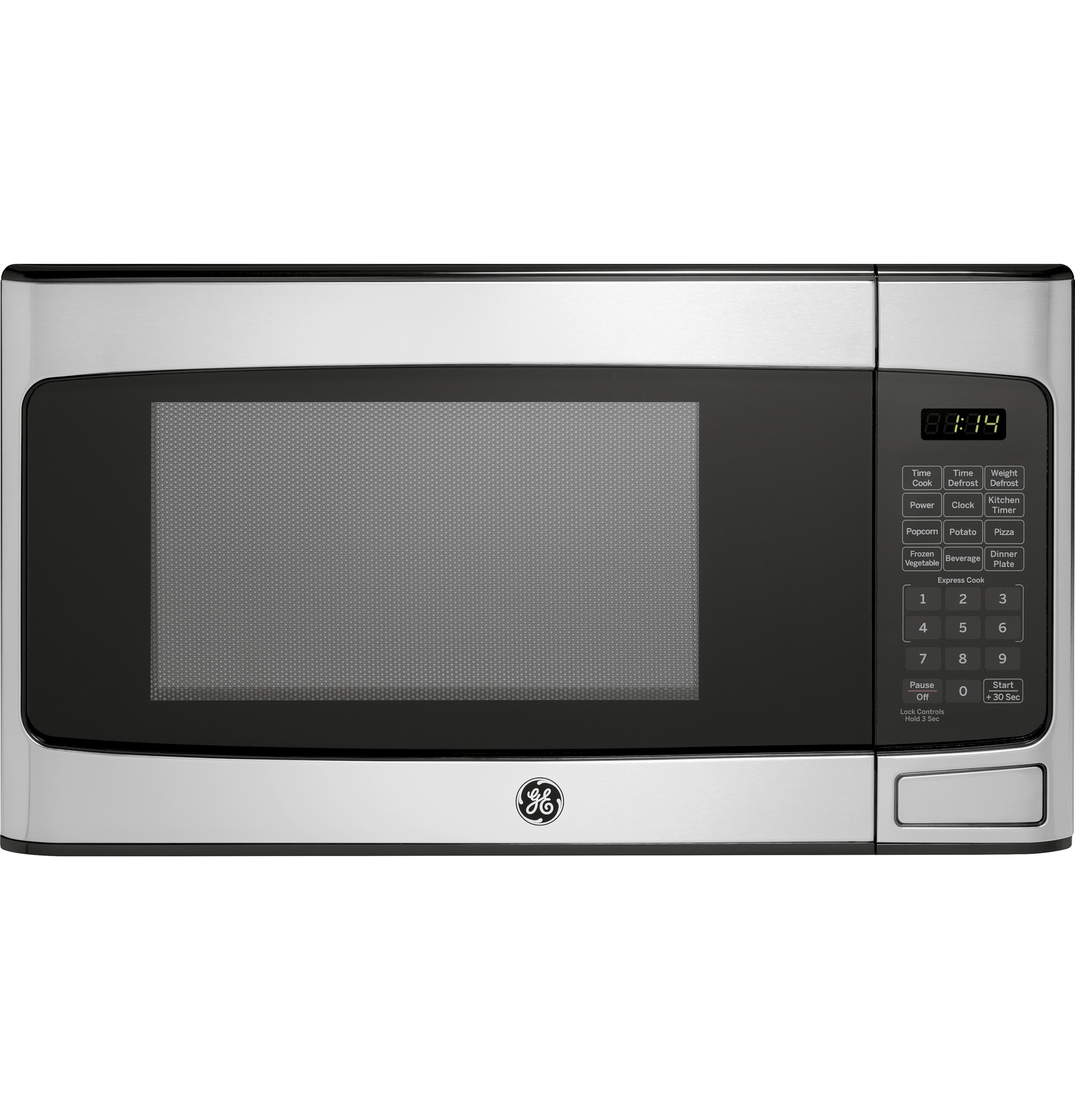 general electric 1 1 cu ft countertop stainless steel microwave oven walmart com