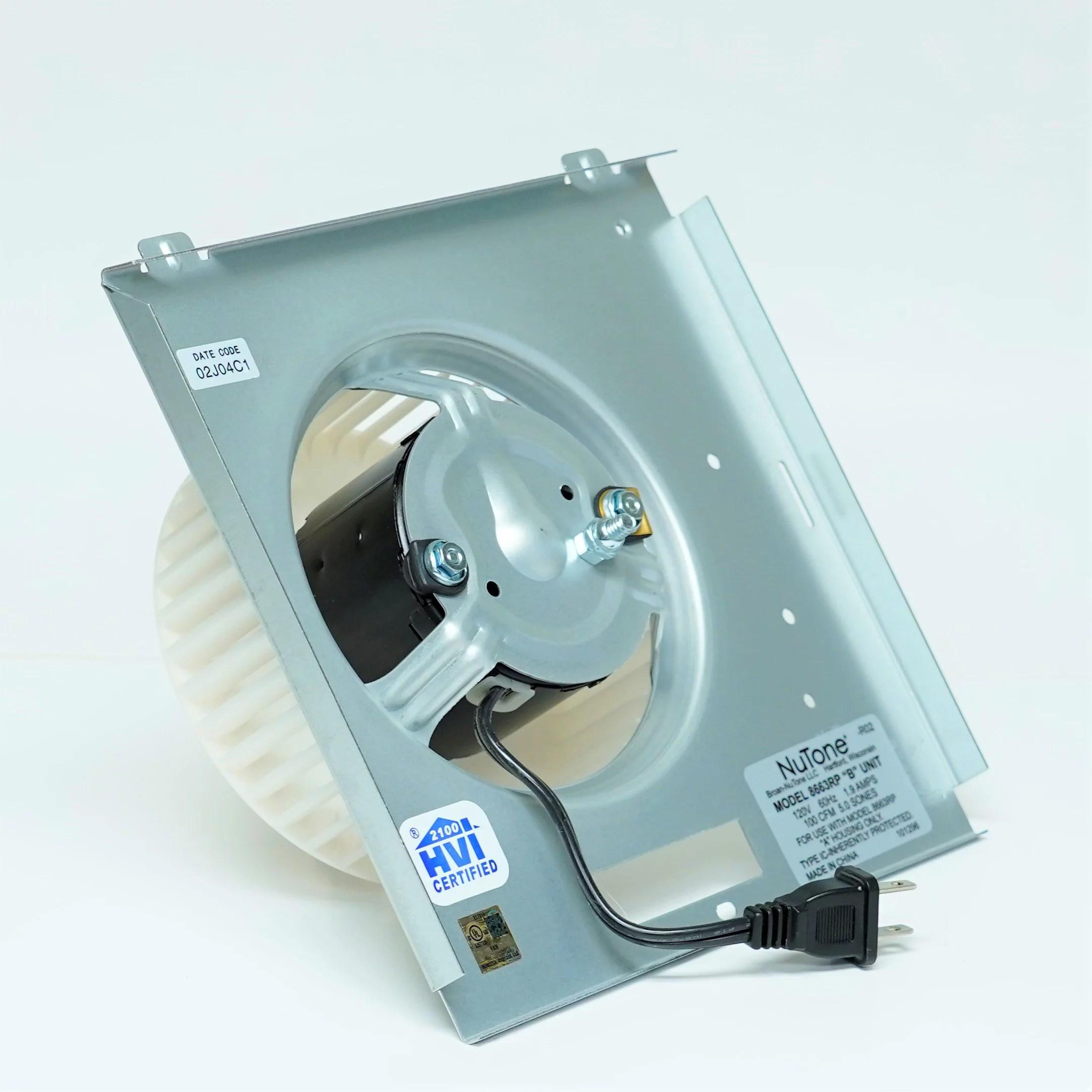 nutone motor 8663rp assembly 97017705 1550 rpm 1 2 amps 115 volts walmart com
