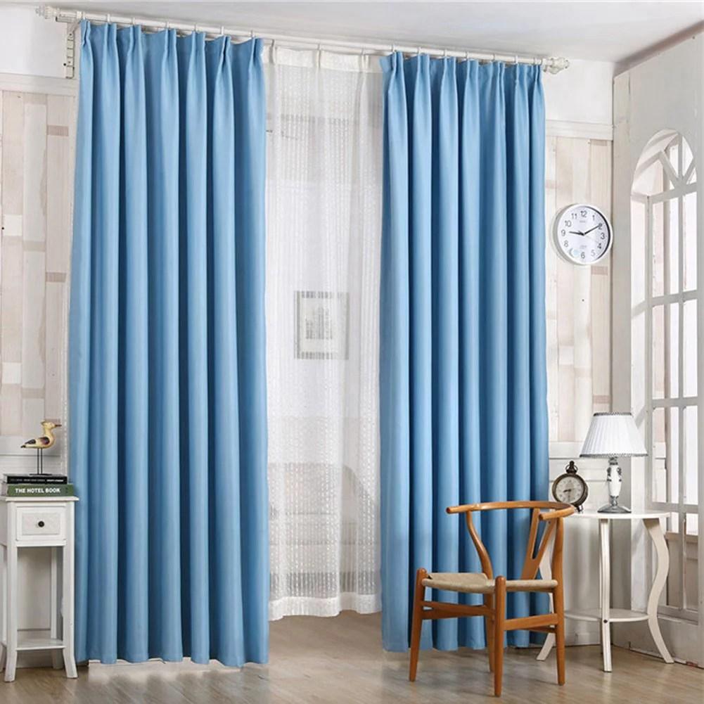 herwey rideau occultant de rideau de fenetre de porte pleine de couleur pure pour la decoration de salon de chambre a coucher rideau de fenetre
