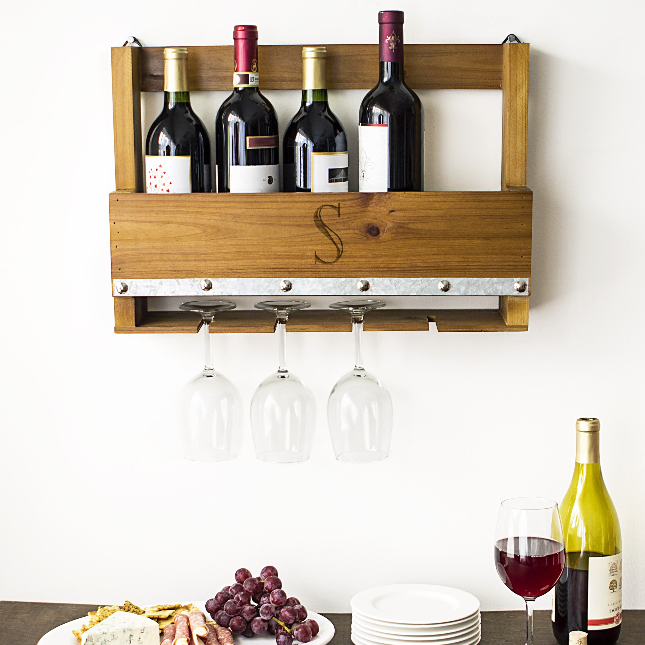 personalized rustic wall mounted wine rack personalized rustic wall mounted wine rack