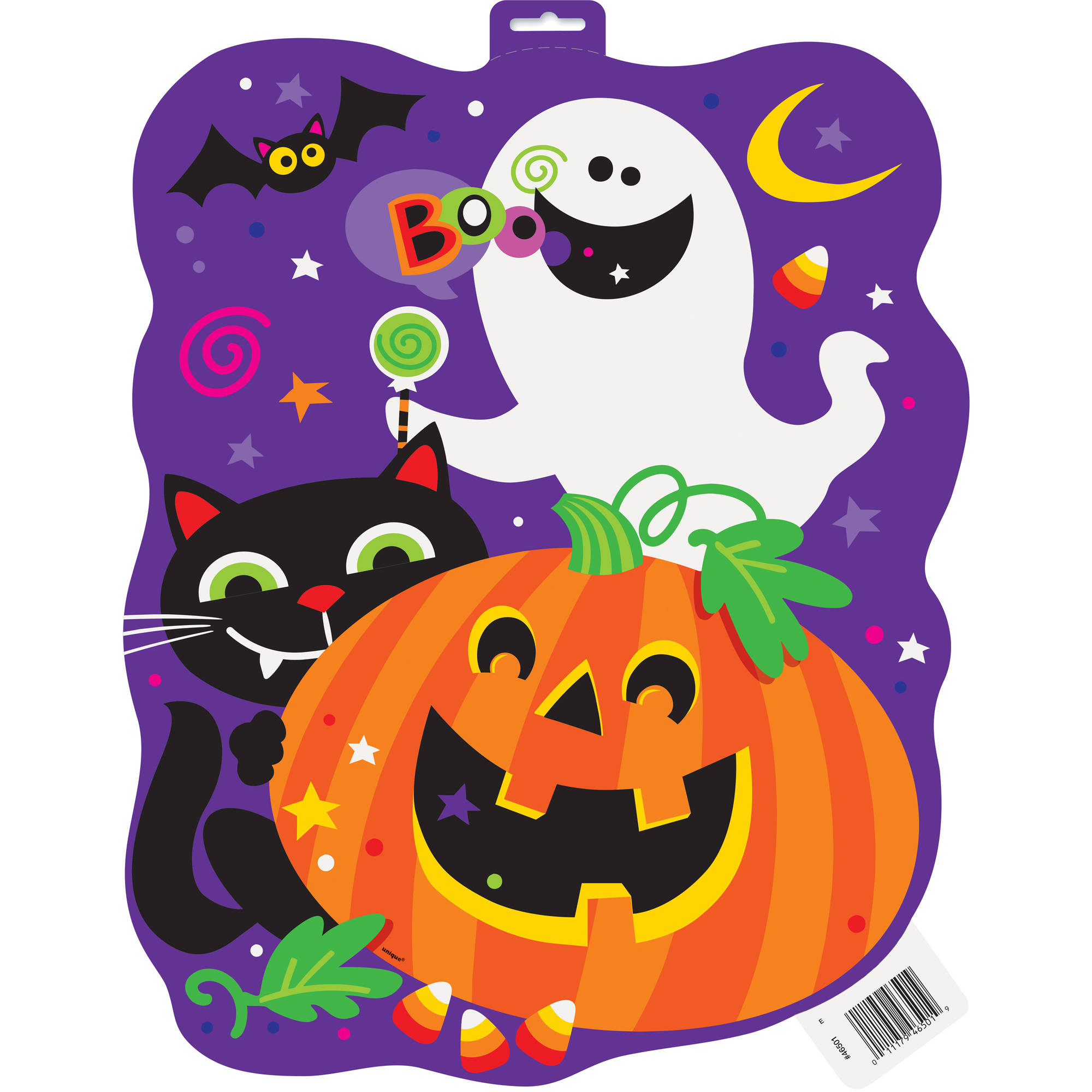 16 5 Paper Cut Out Happy Halloween Decoration