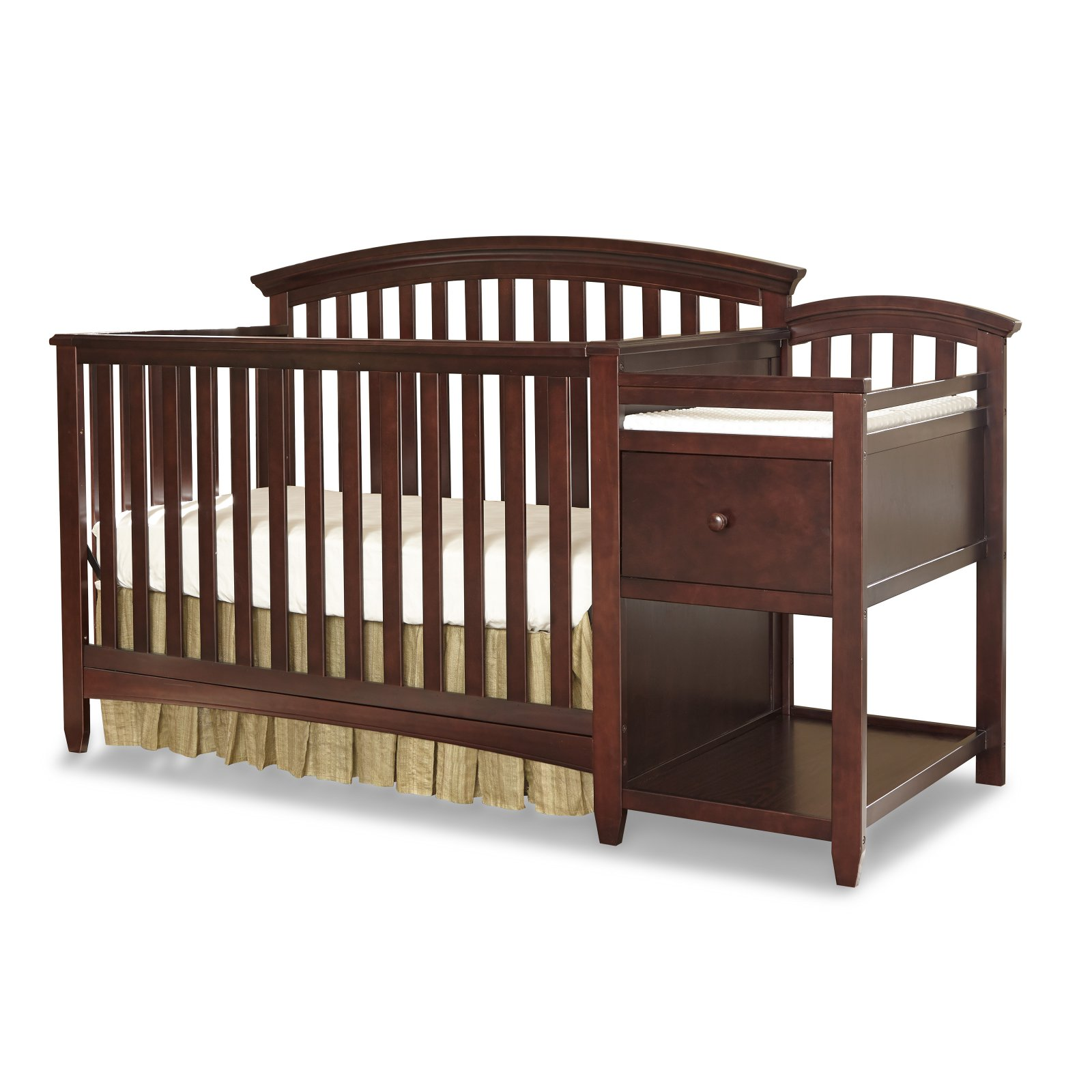 imagio baby montville 4 in 1 convertible crib and changer with pad chocolate mist