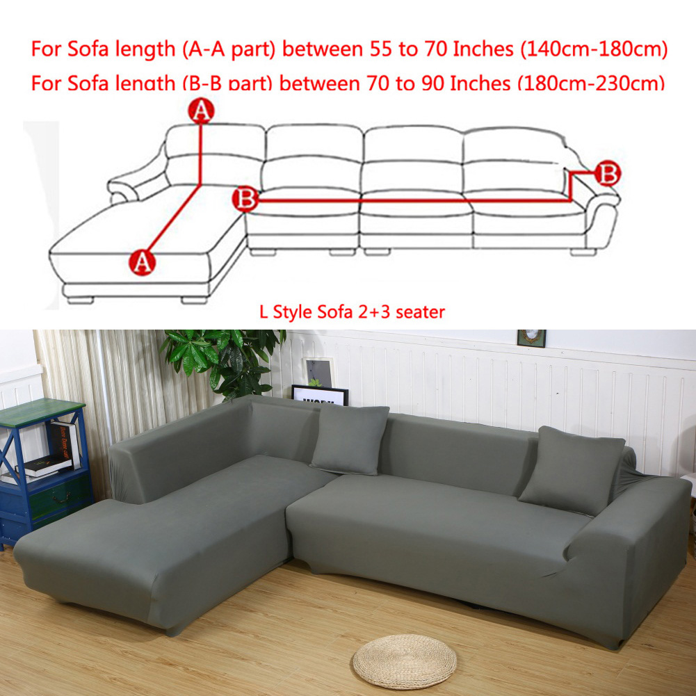 all cover sectional sofa l shape 2pcs slipcover elastic washable couch cover 2seater 55 to 74inch 3 seater 74 to 90 inch sofa slipcover couch