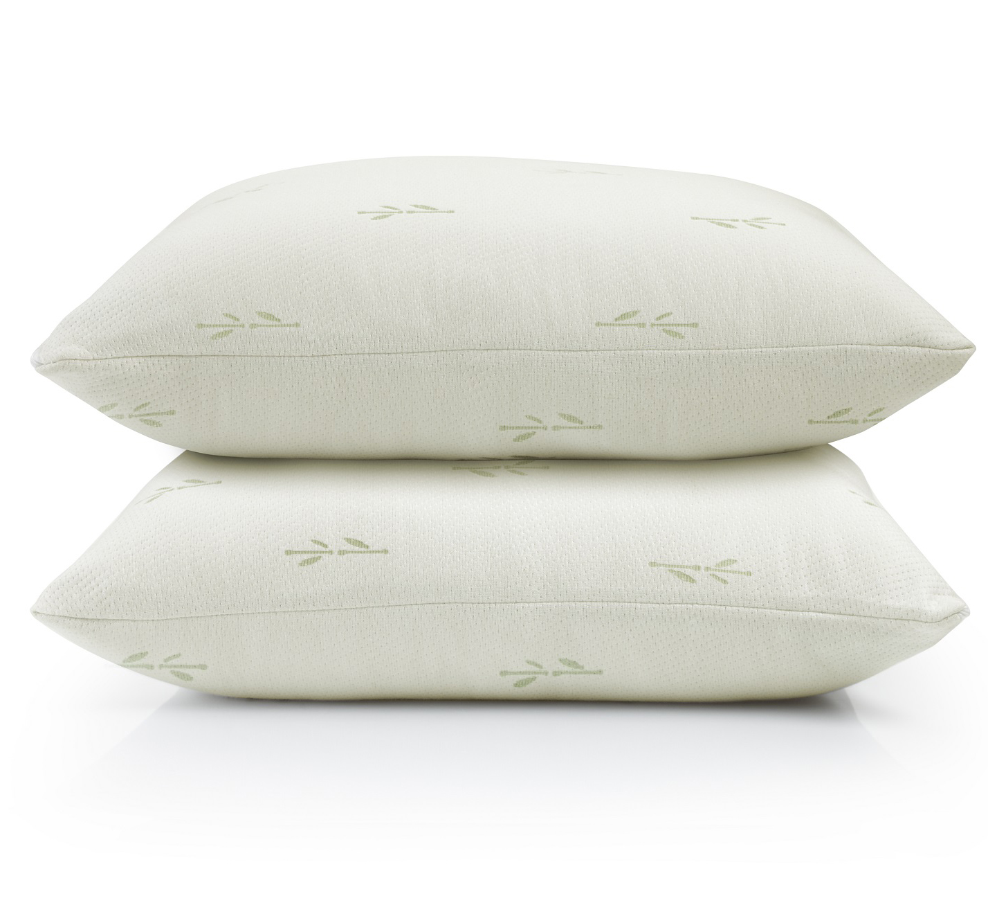 2 pack riley collection premium bamboo pillow protectors by home fashion designs