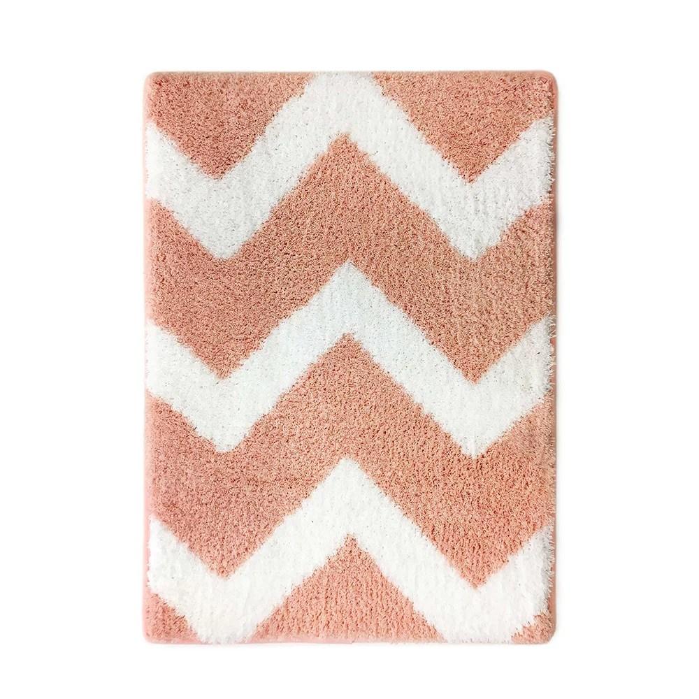 mainstays true color memory foam blush washable bath rug on farmhouse colors for bath mats walmart id=46891