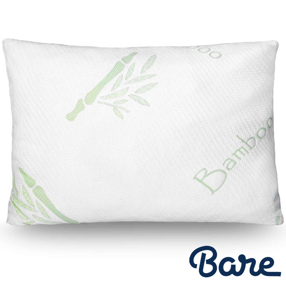 bare home luxury shredded memory foam pillow removable breathable cool hypoallergenic premium bamboo cover fully adjustable support standard