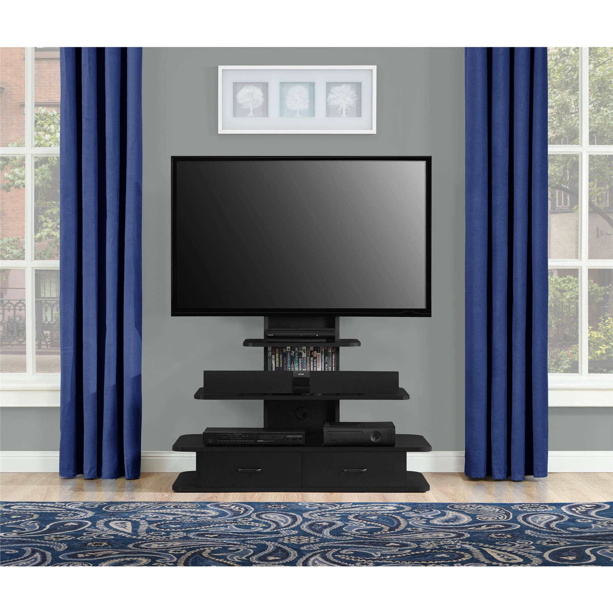 Ameriwood Home Galaxy XL TV Stand With Drawers For TVs Up