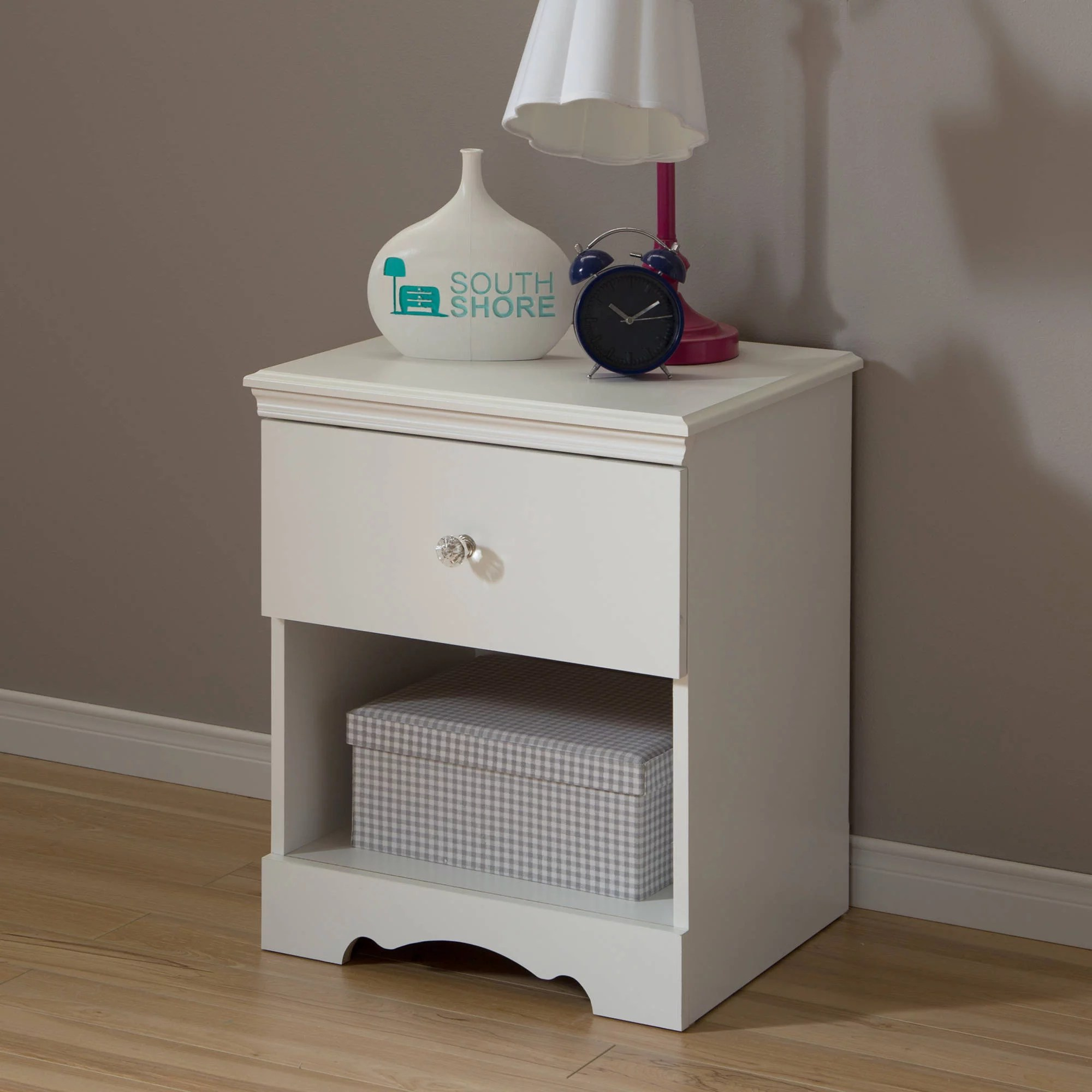 crystal 1 drawer nightstand multiple finishes walmart com