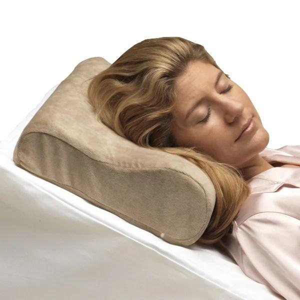 pcp memory foam cervical pillow beige full size