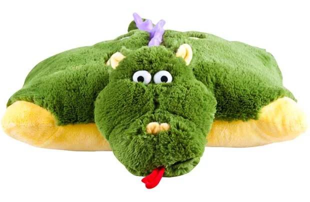 pillow pet dragon small green