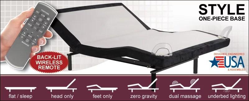 new leggett platt style adjustable bed w zero gravity and underbed lighting walmart com