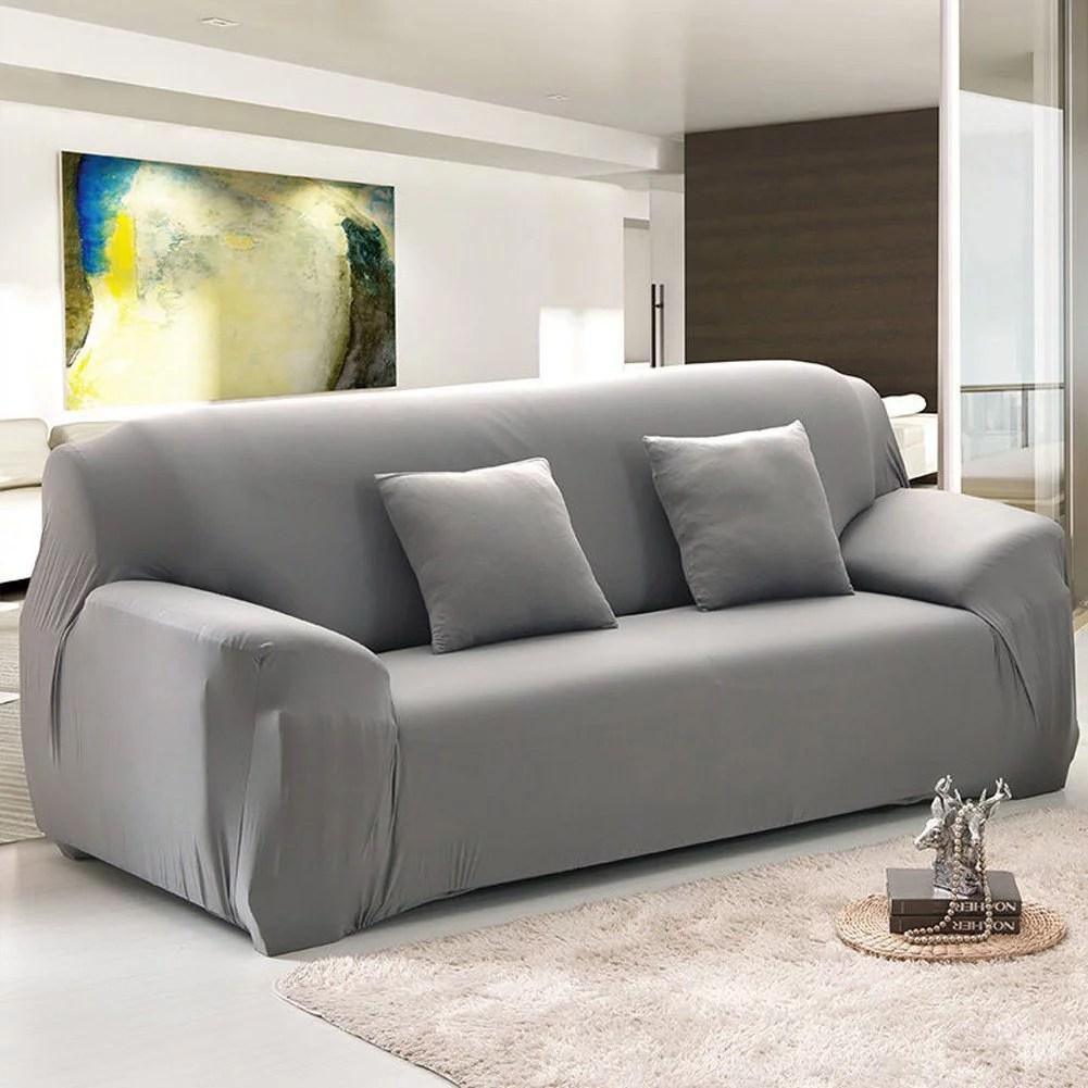 stretch sofa covers for 1 2 3 4 seats 2 seat gray walmart com