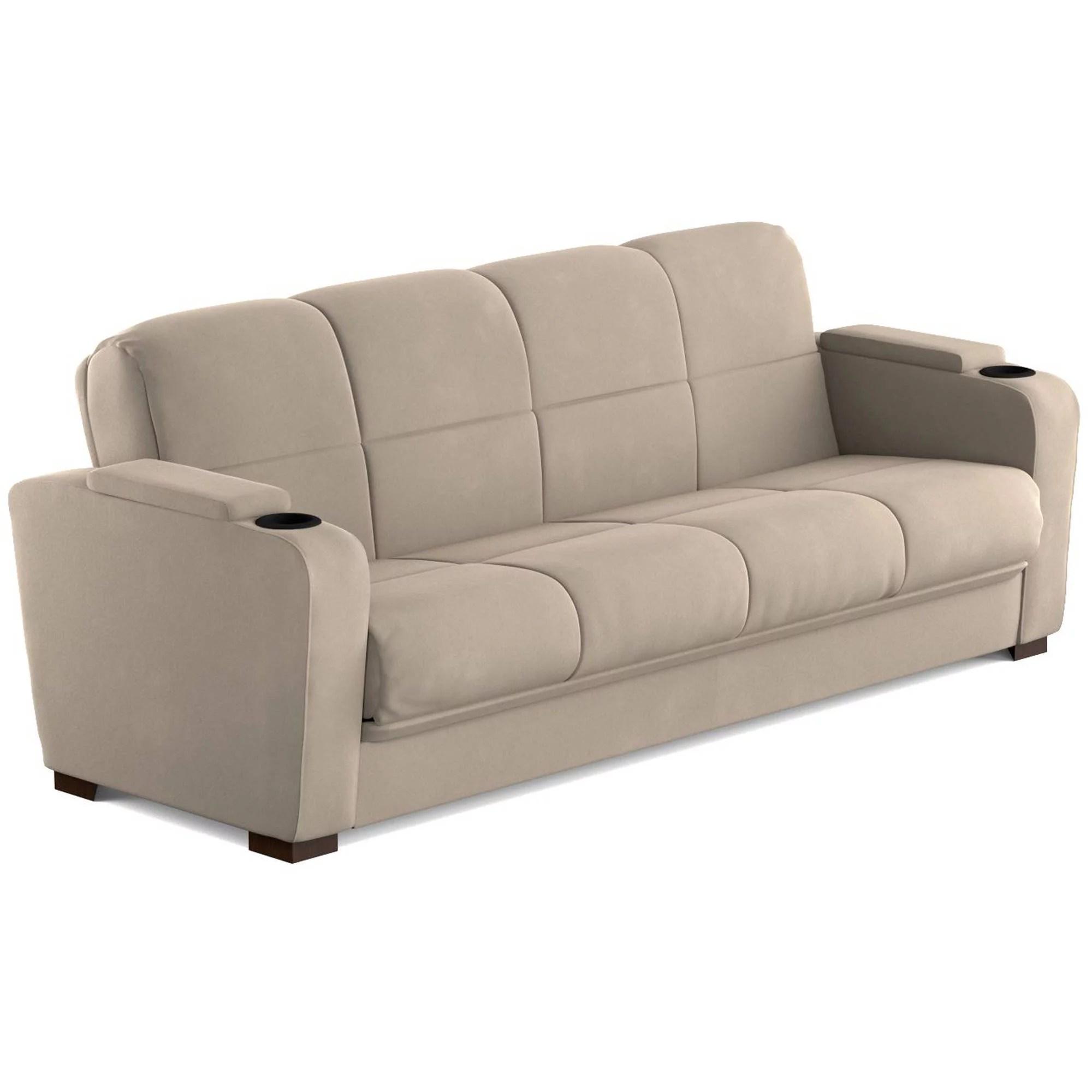 mainstays tyler futon with storage sofa