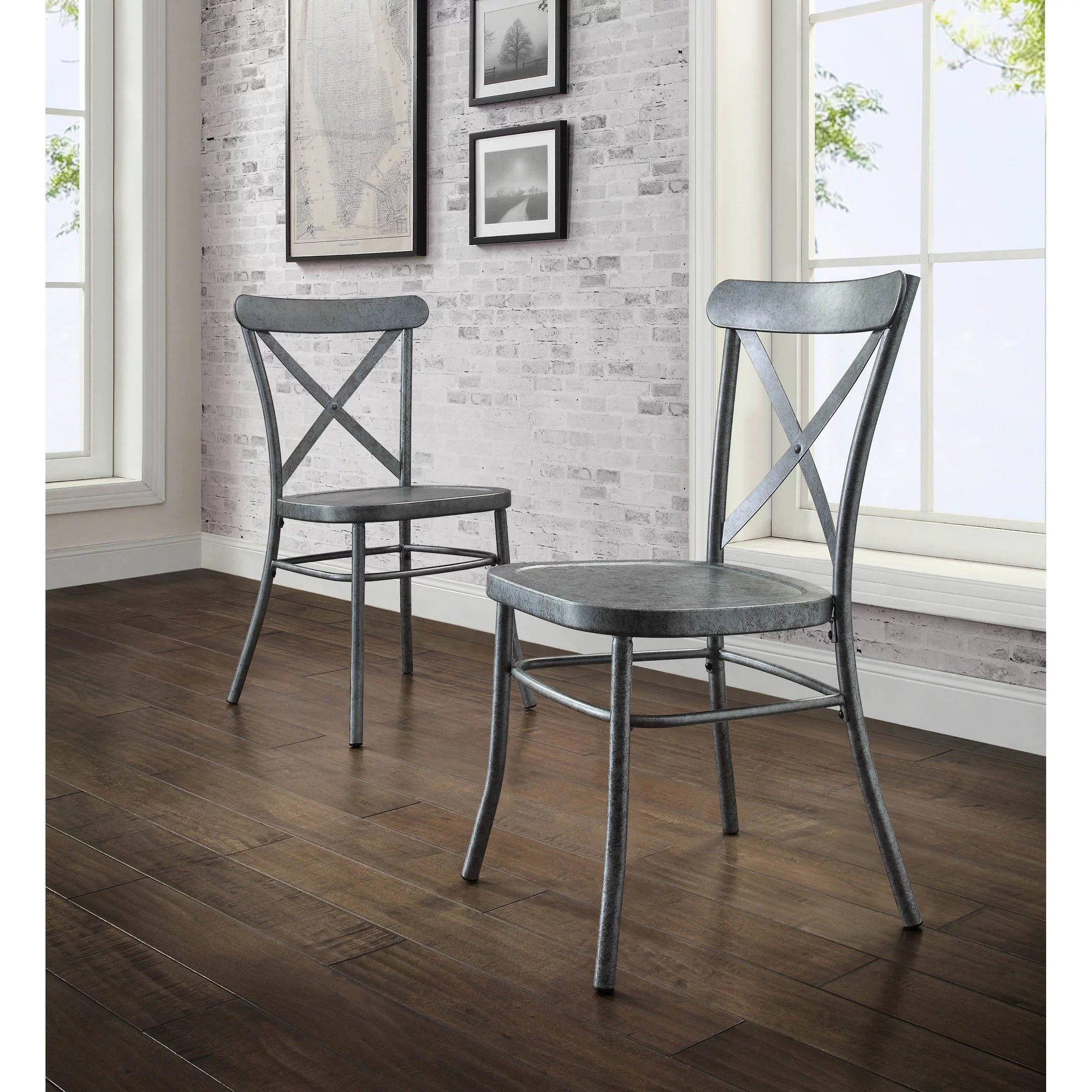 better homes and gardens collin distressed dining chair set of 2 multiple finishes