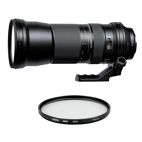 Tamron SP 150-600mm f/5-6.3 Di VC USD Telephoto Lens for Canon EF Mount - With Hoya 95mm UV (Ultra Violet) Glass Filter