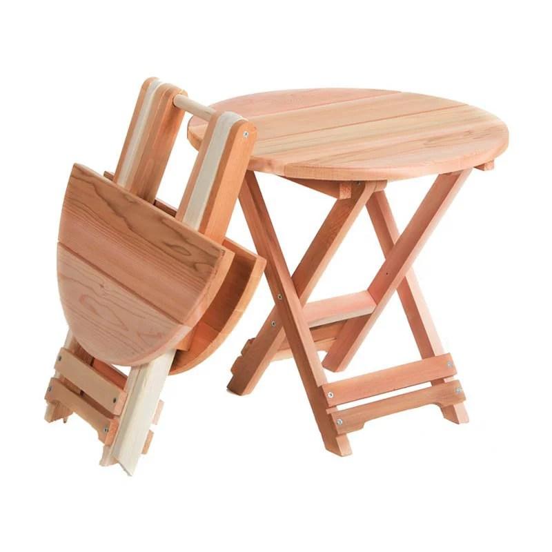all things cedar folding side table western red cedar walmart com