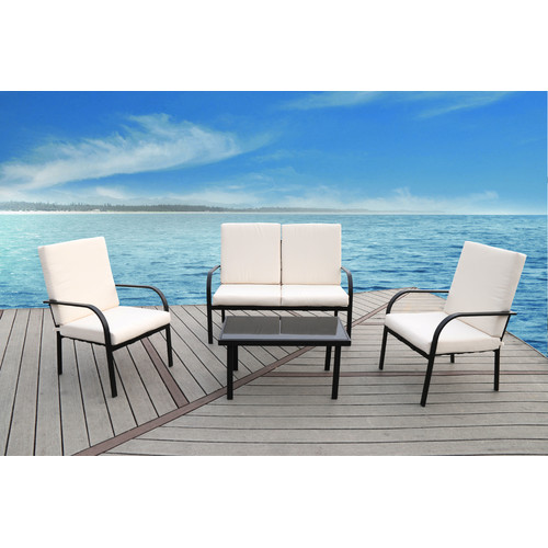 SunTime Outdoor Living Florida 4 Piece Sofa Set with ... on Suntime Outdoor Living  id=88952