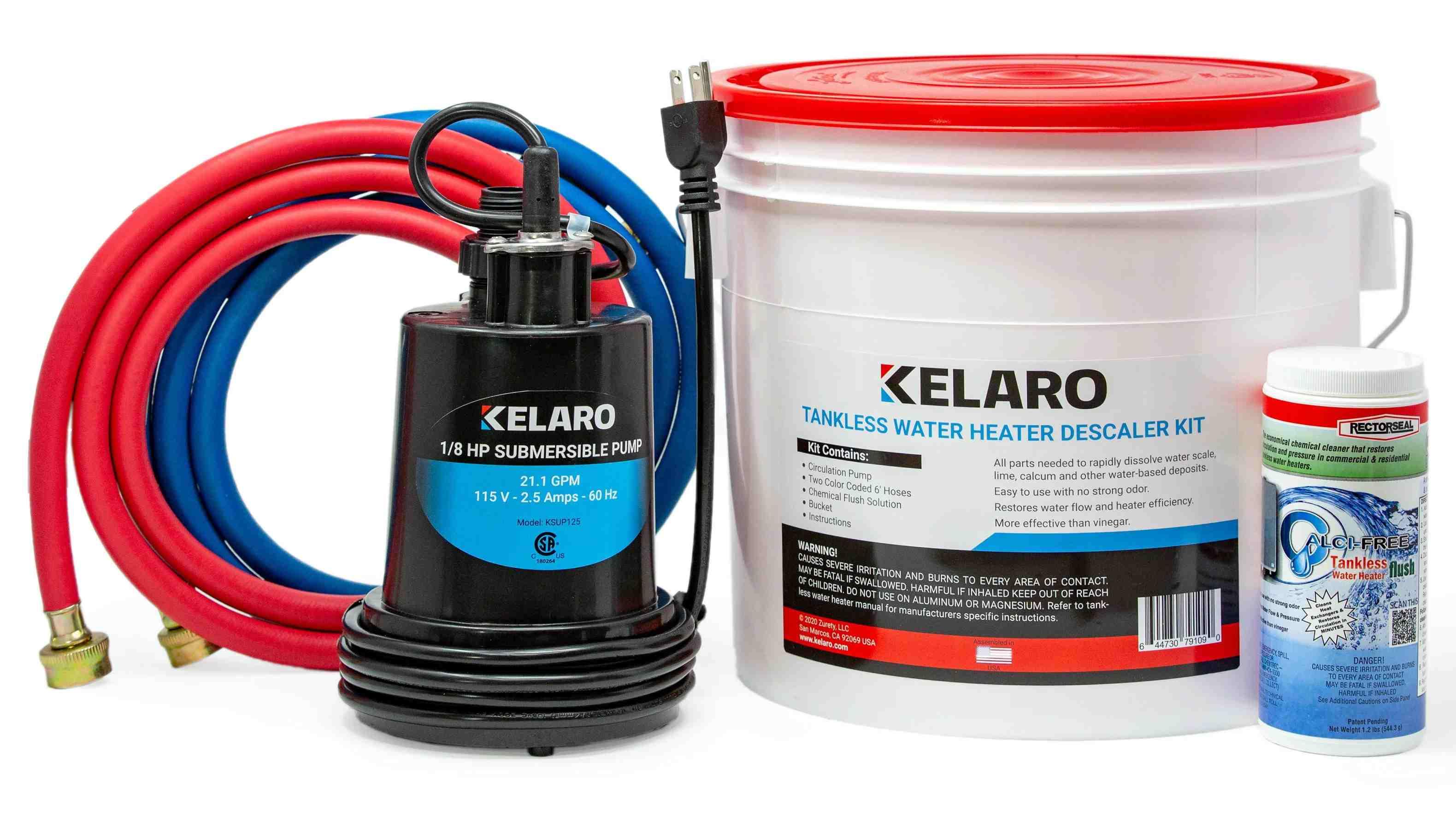 Kelaro Tankless Water Heater Flushing Kit With Rectorseal Calci Free Walmart Com Walmart Com