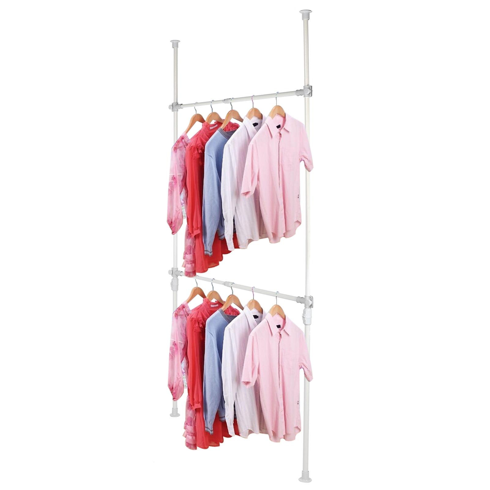 dilwe telescopic clothes hanger multi functional adjustable hanging rail garment rack from floor to ceiling household accessories clothes rack