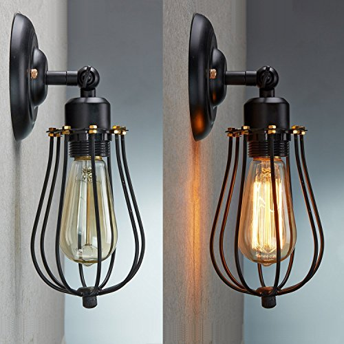 LED Wall Light Shade, CMYK Retro Vintage Wall Lamp Lights ... on Brass Wall Sconces Non Electric Lighting id=85733