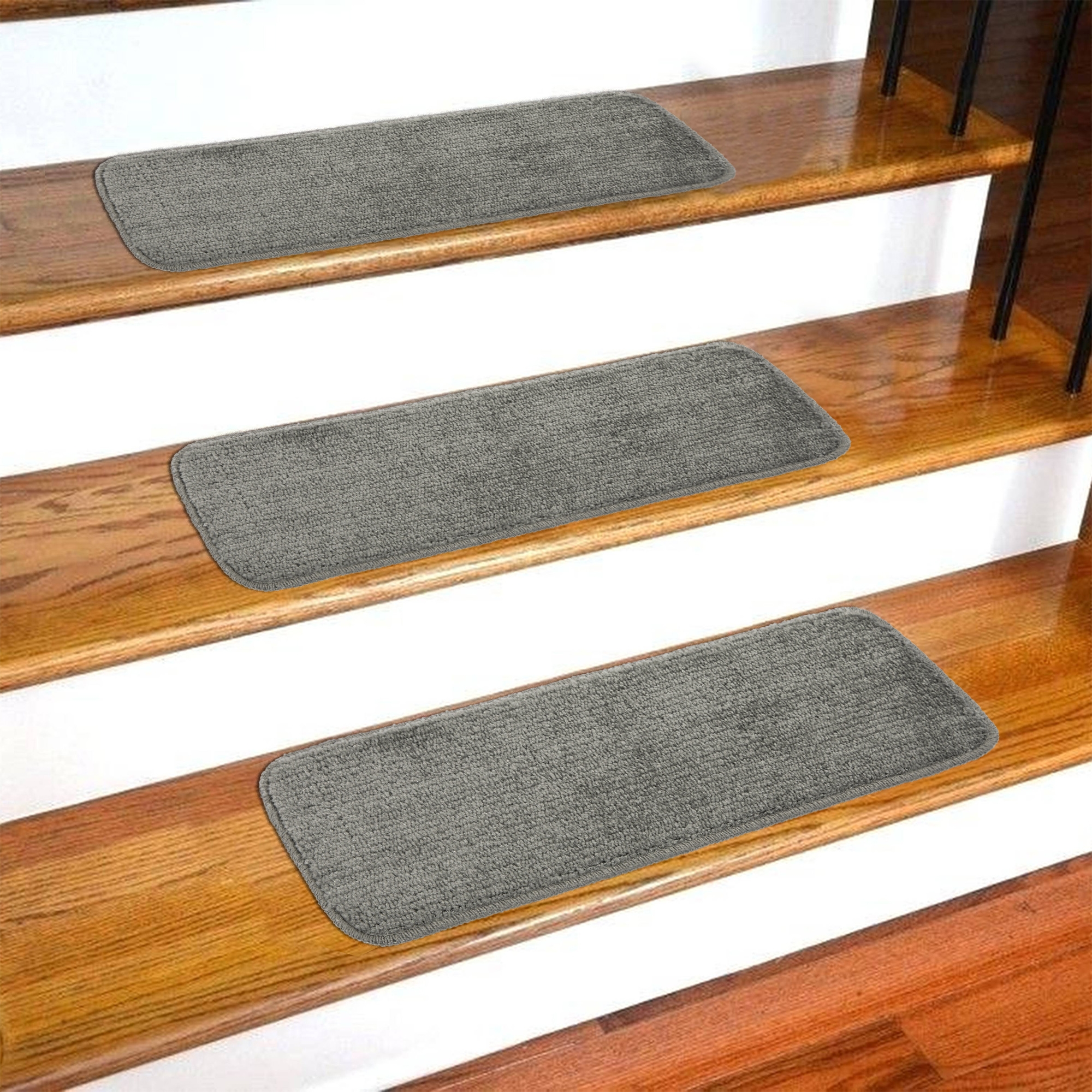 Ottomanson Softy Stair Treads Solid Skid Resistant Rubber Backing | Rubber Treads For Outdoor Steps | Non Slip | Diamond Plate | Rubber Cal | Recycled Rubber | Rubber Matting