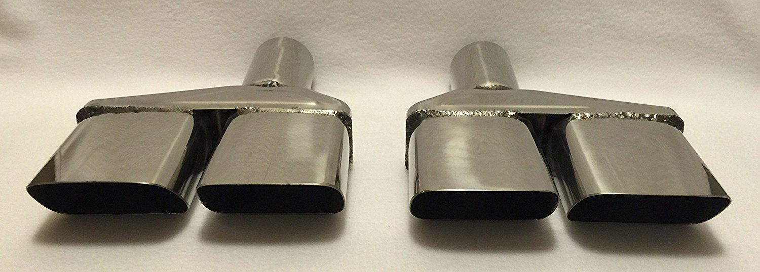1970 74 mopar dodge challenger 2 5 polished stainless exhaust tips pair