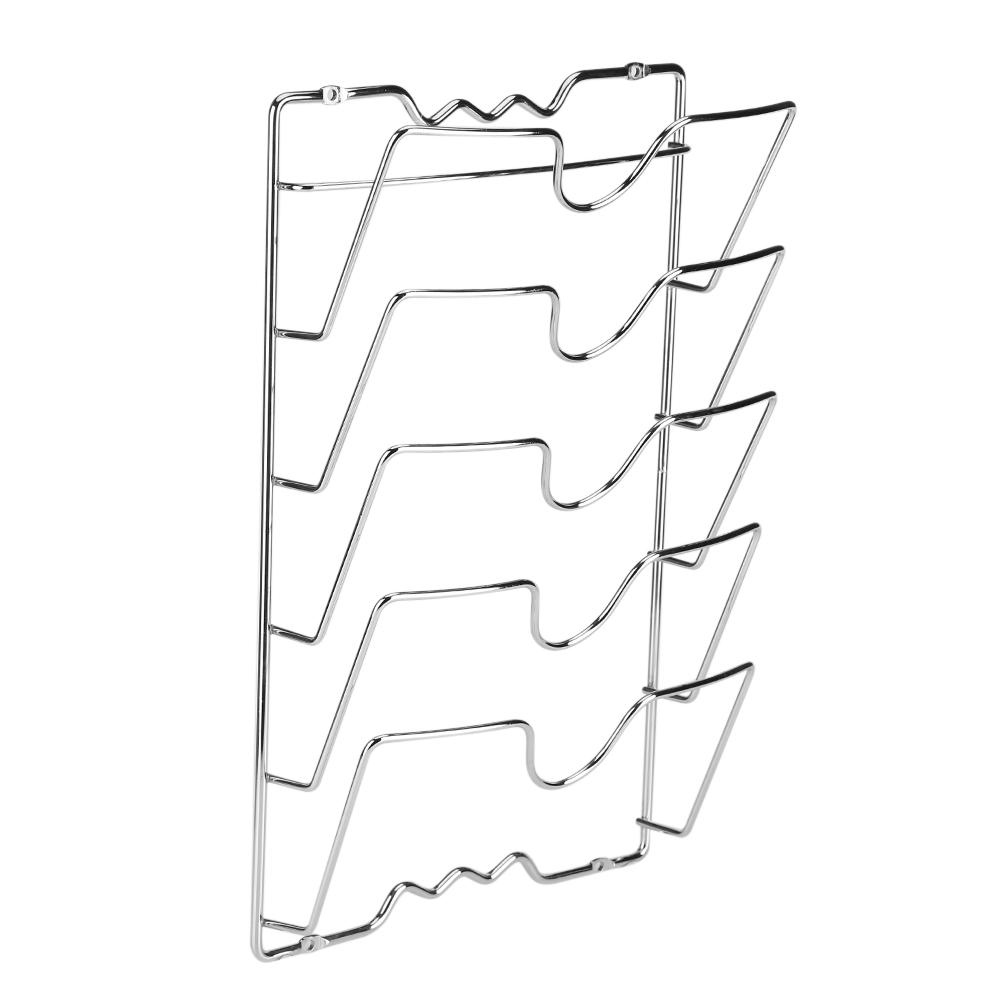 otviap pot lid rack pan lid holder wall door mounted kitchen cabinet storage rack holder for pot pan lids