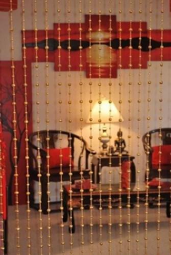 beautiful acrylic beaded curtain golden balls