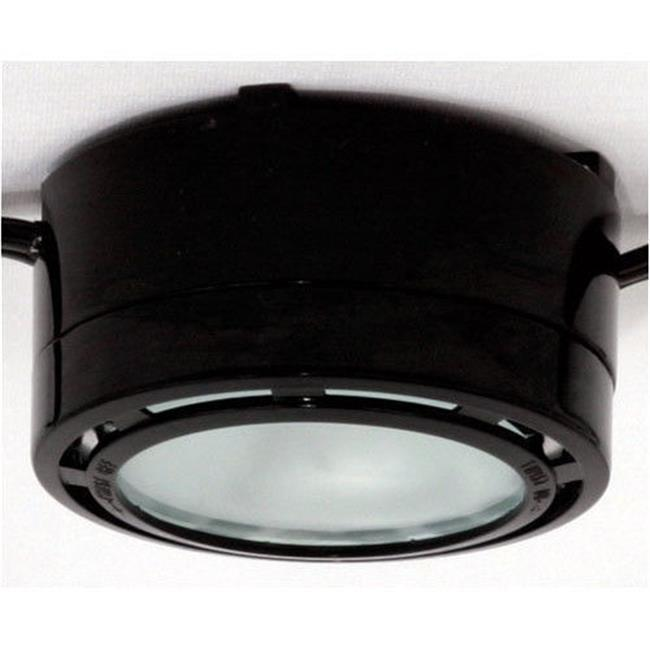 american lighting allvp20bk 120v halogen under cabinet puck light black