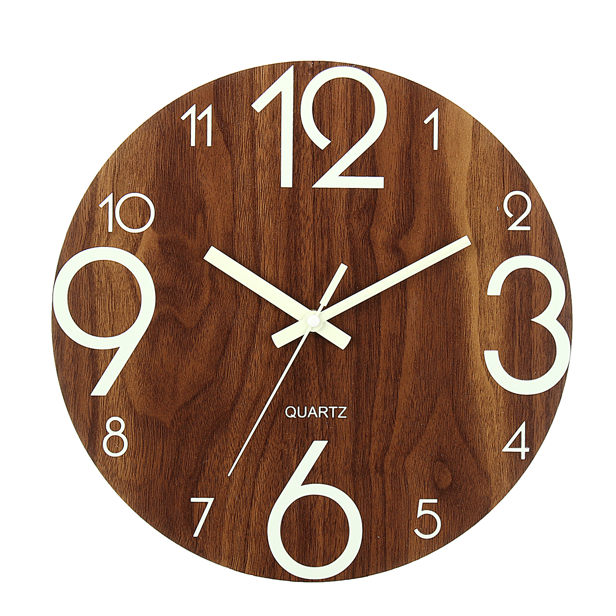 Luminous Wall Clock, 12 Inch Wooden Silent Non-Ticking ... on Decorative Wall Sconces Non Lighting id=23706