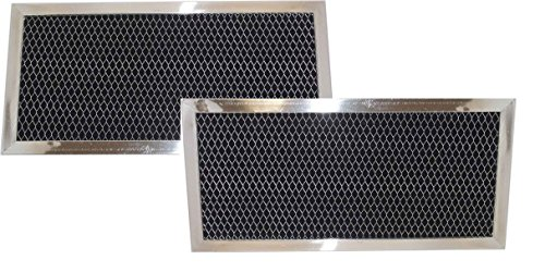 2 pack w10120840a whirlpool microwave hood charcoal filter set