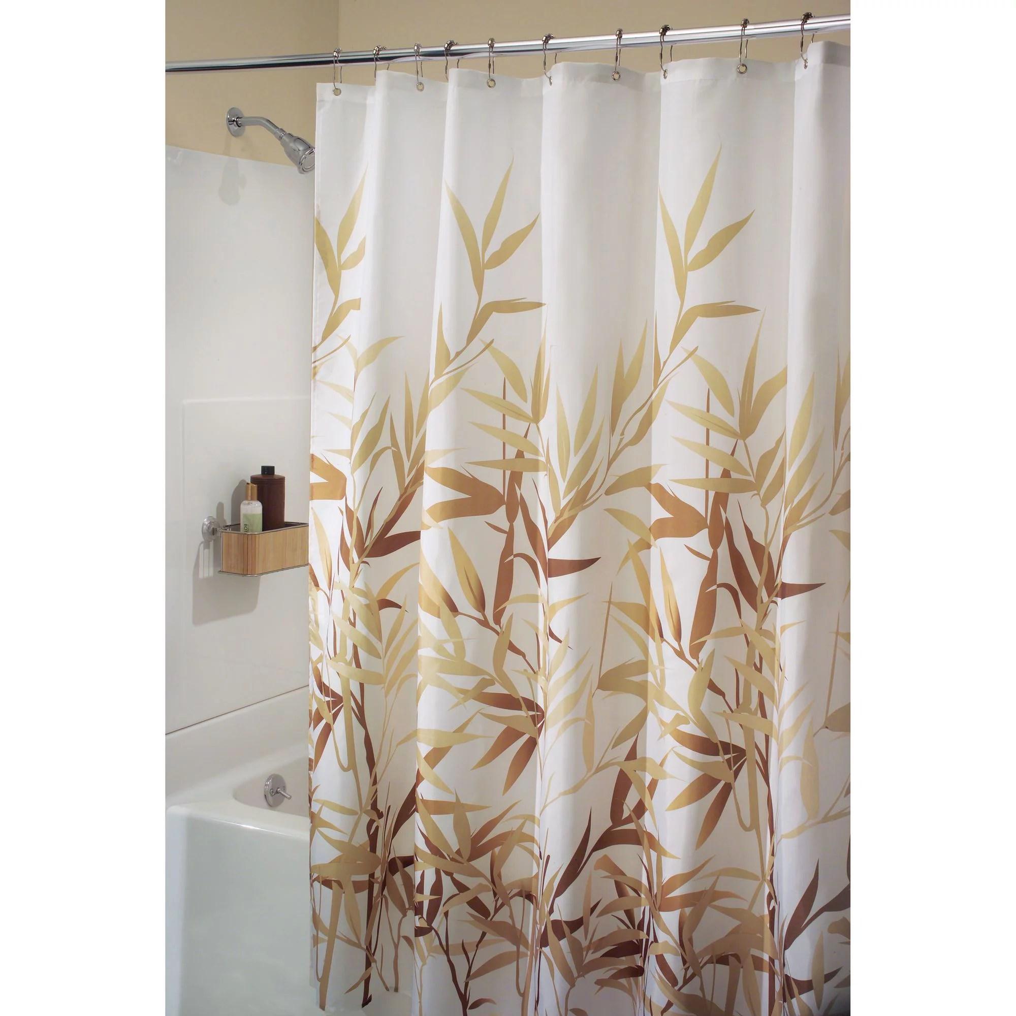 interdesign anzu fabric shower curtain stall 54 x 78 green