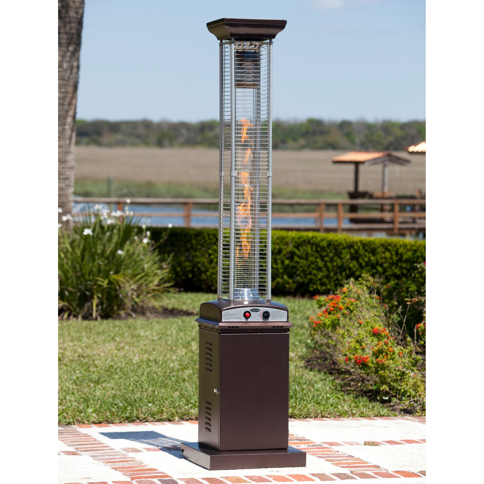 fire sense square flame lpg patio heater walmart com