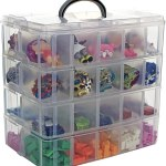 Bins Things Stackable Storage Container 40 Adjustable Compartments Compatible With Lego Dolls Littlest Pet Shop Hot Wheels And Arts Crafts Walmart Com Walmart Com