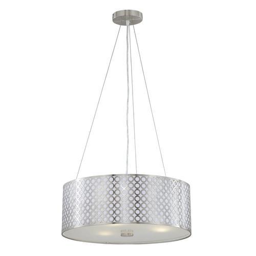 patriot lighting tetra polished steel 3 light pendant