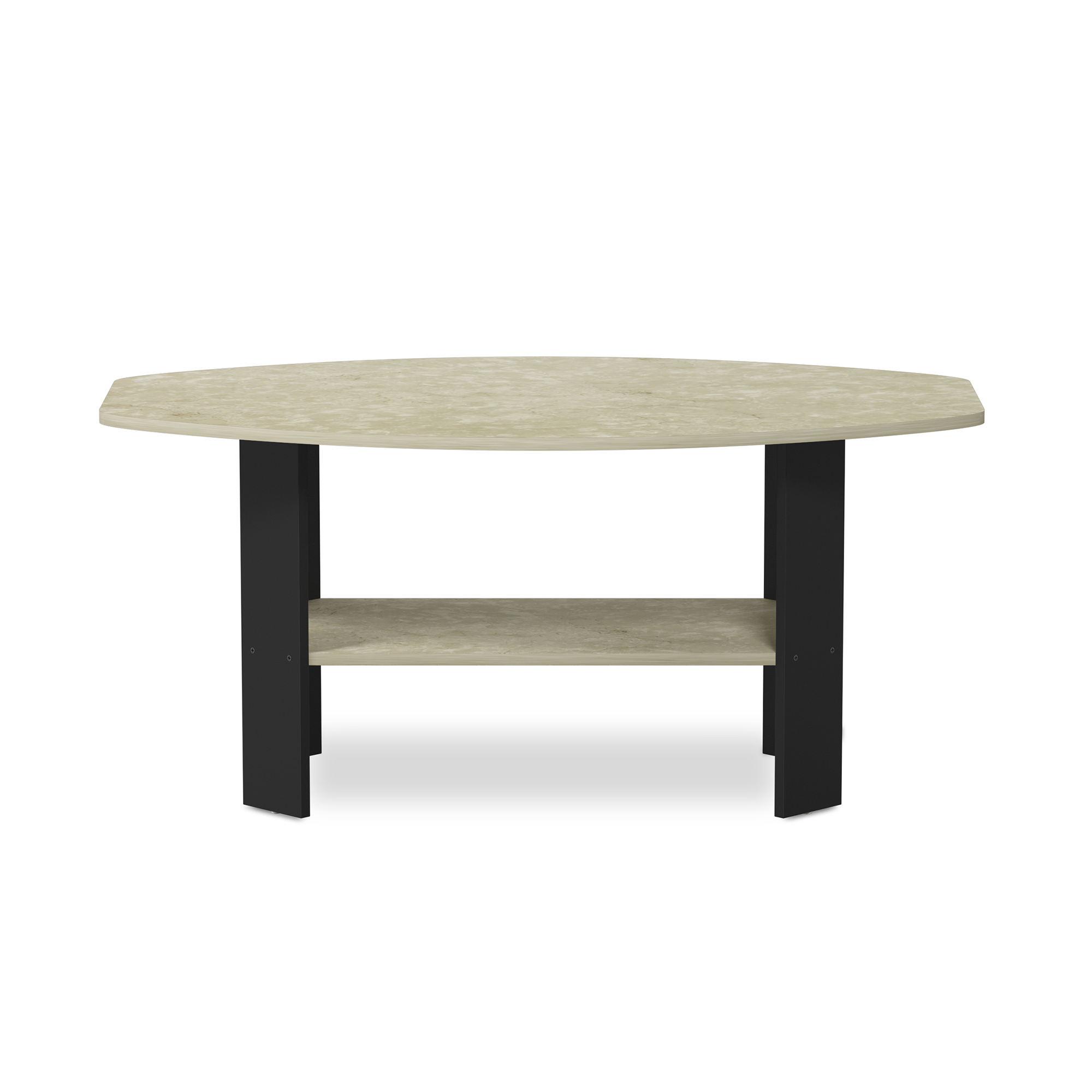 11179 simple design coffee table cream marble black