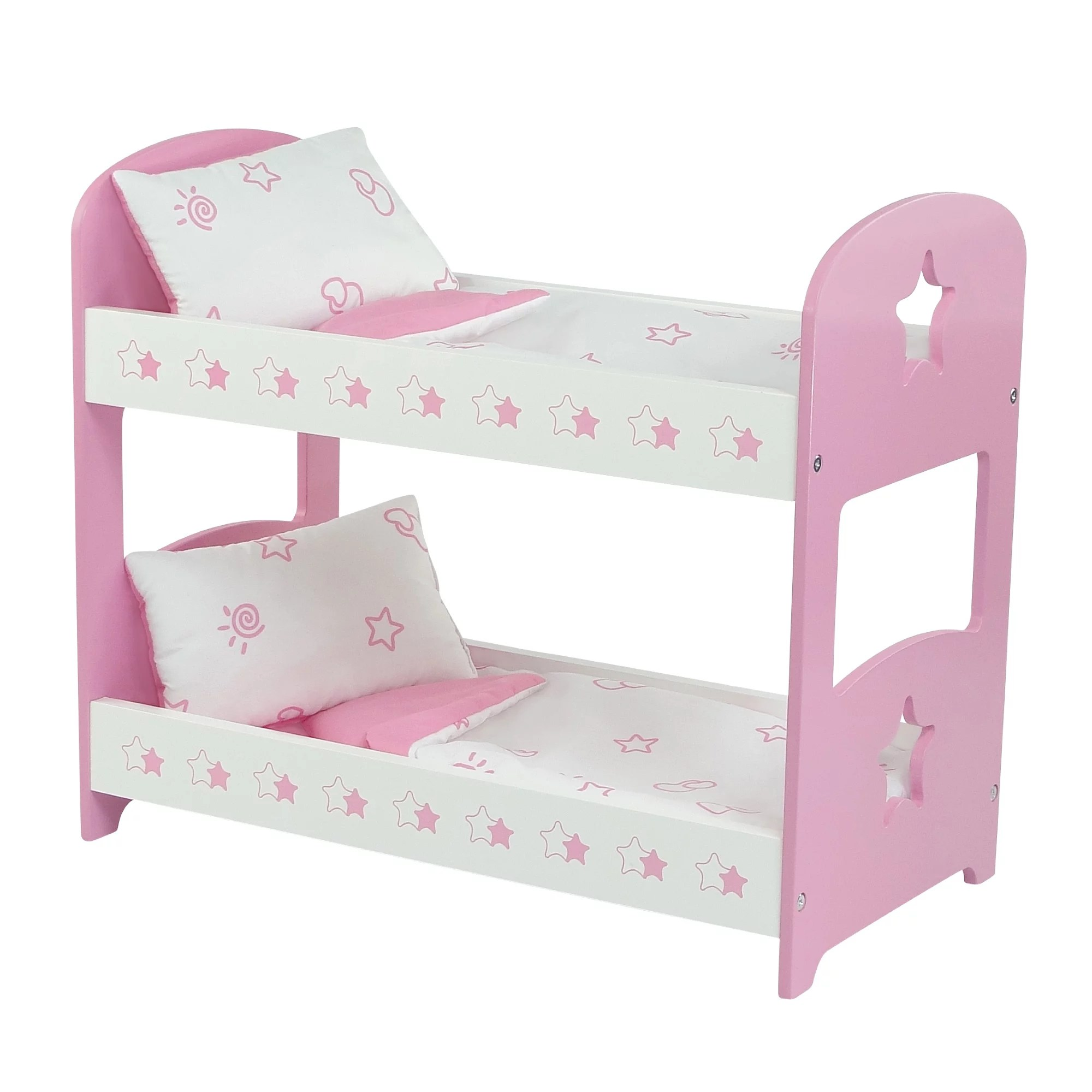 My Life As Doll Bed Fits 18 Inch Doll Bunk Bed Furniture For My Life As And Similar 18 Dolls Doll Bunk Bed With Star Includes Bedding Fits 18 American