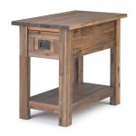 Brooklyn Max Sullivan Solid Acacia Wood 14 Inch Wide Rectangle Rustic Contemporary Narrow Side Table In Distressed Charcoal Brown Walmart Com Walmart Com