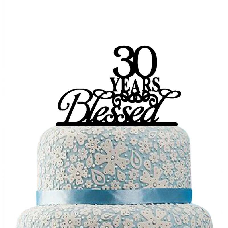 JeVenis 30 PCS 30th Birthday Cake Topper Hello 30 Cake Topper 30th Birthday Wedding 30 Anniversary Party Decorations 30th Birthday Party Decoration Ideas
