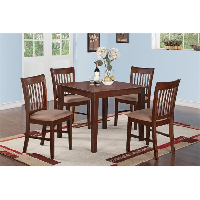 5 Piece Kitchen Table Set Square Table And 4 Dining Chairs Walmart Com Walmart Com