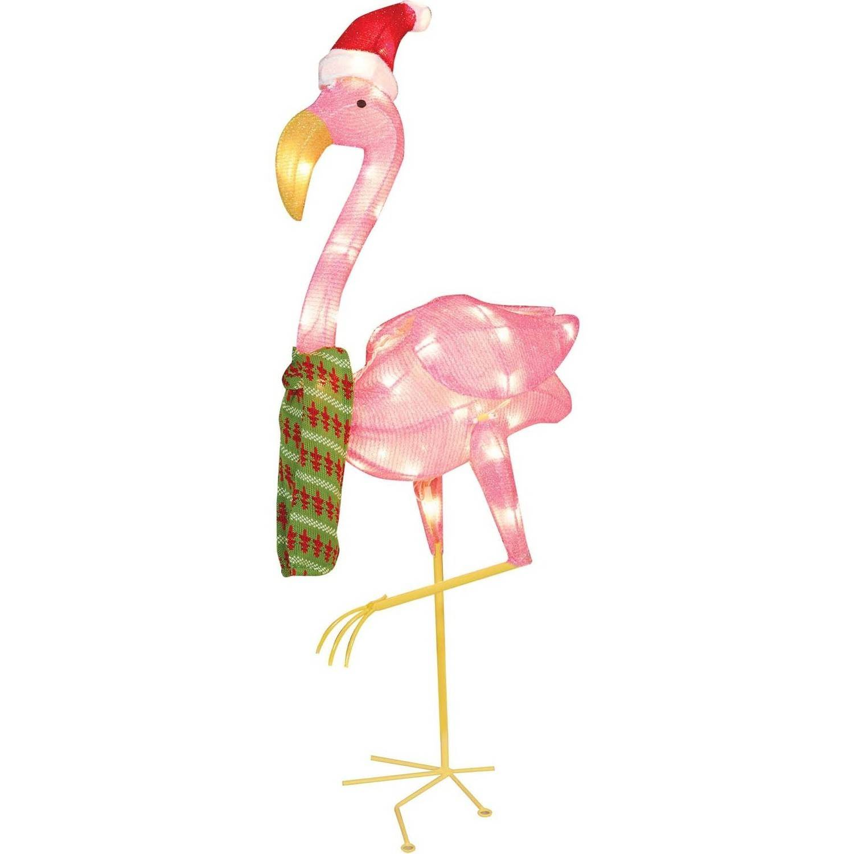 Holiday Time Christmas Decor 32 Flamingo Clear Light