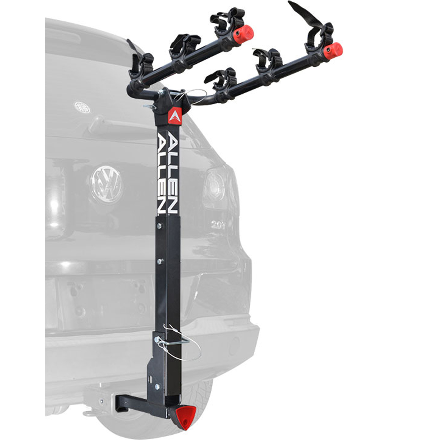 allen sports deluxe quick install locking 3 bicycle hitch mounted bike rack carrier 532qr