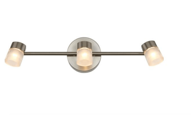 artika vars 2 ft 3 light steel integrated led track lighting kit